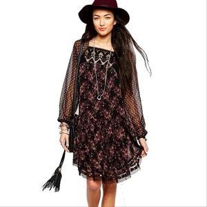 Free People Elsie Midnight Garden Dress